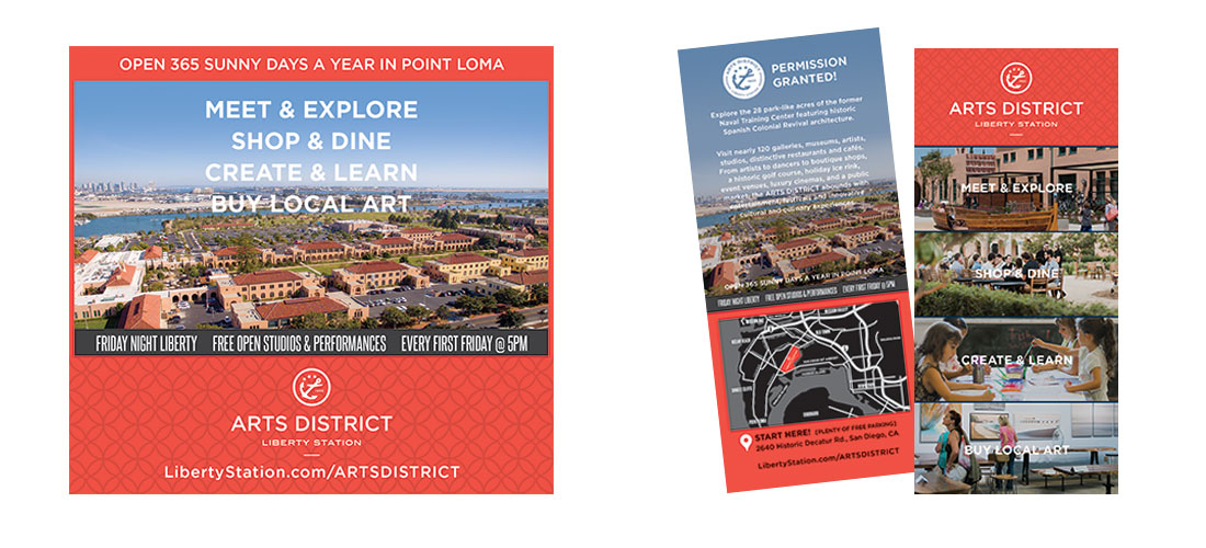 Arts District Liberty Station Ad and Rack Card
