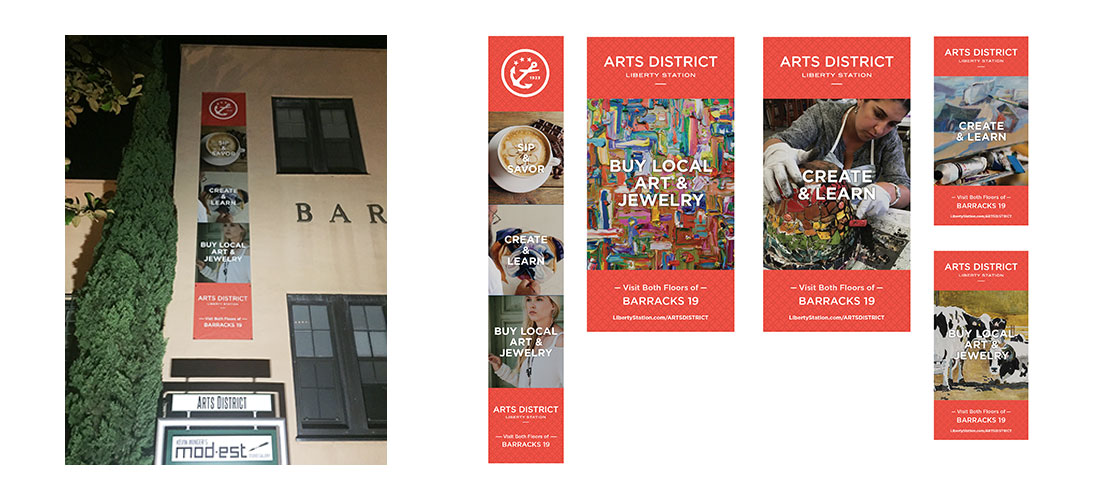Arts District Building Banners